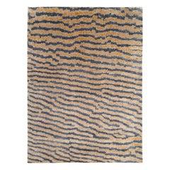 Contemporary Silk Area Rug, Fishskin