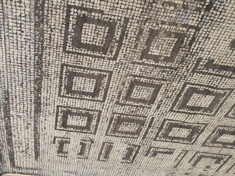Contemporary Silk Rug with Ancient Byzantine Mosaic Pattern For Sale 5