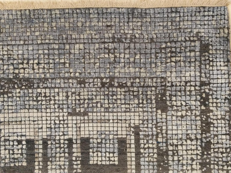 Contemporary Silk Rug with Ancient Byzantine Mosaic Pattern For Sale 14