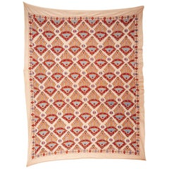 Contemporary Silk Suzani Inspired by Ikat Design, 21st Century