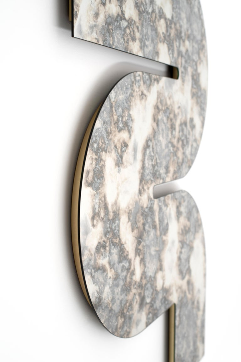 Silver Antiqued Serpens Mirror by Ben & Aja Blanc In New Condition For Sale In Rumford, RI