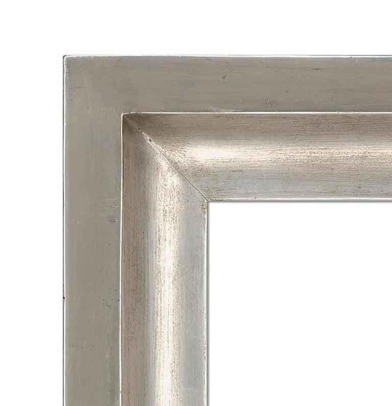American Contemporary Silver Gilt Mirror For Sale