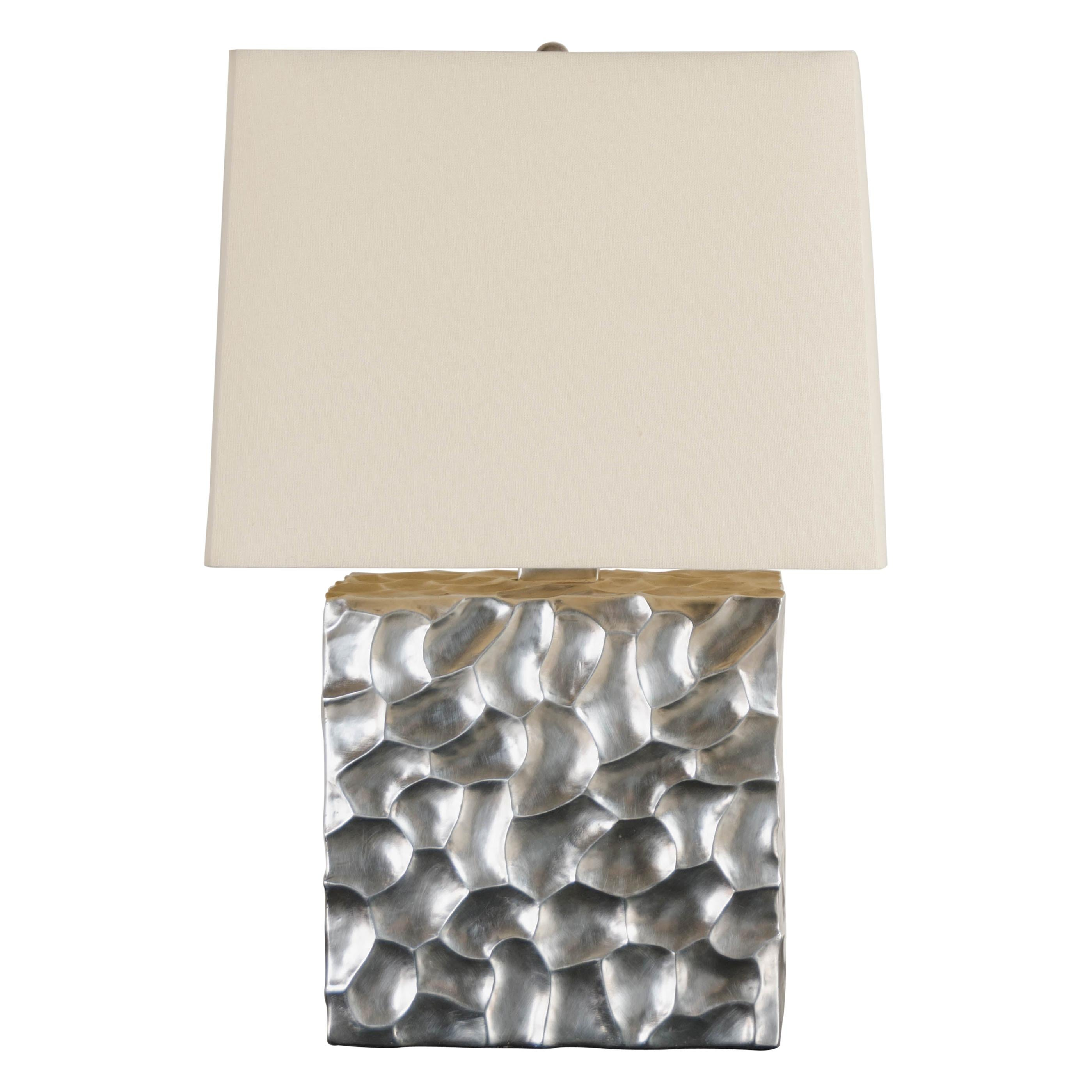 Contemporary Silver Plated Rocco Cube Table Lamp by Robert Kuo, Limited Edition