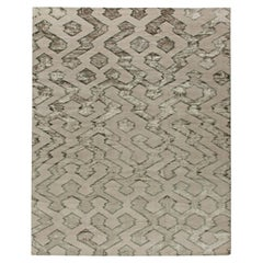 Contemporary Silver with Matte Gray Hand Knotted Wool Rug
