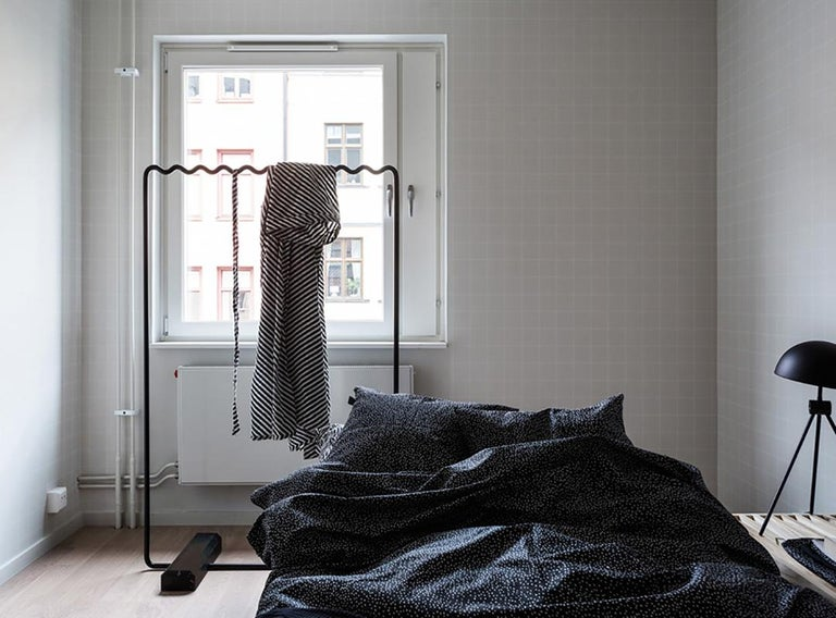 Cast Contemporary Sine Wave Coat Rack Medium in Black by Erik Olovsson For Sale