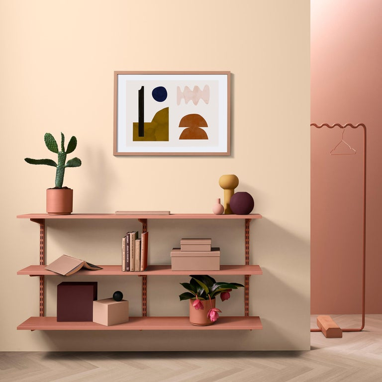 Post-Modern Contemporary Sine Wave Large Coat Rack in Pink by Erik Olovsson For Sale
