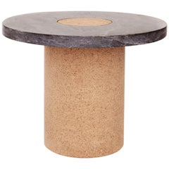 Contemporary Sintra Table Large with Black Marble and Natural Cork