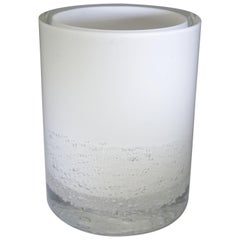 Contemporary Skogsberg & Smart Large White Soda Bubble Glass Hurricane Lamp