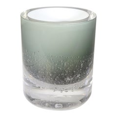 Contemporary Skogsberg & Smart Medium Grey Soda Bubble Glass Hurricane Lamp