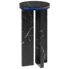 Contemporary Small Table 'DISLOCATION' in Black Marble by Buzao 'High'