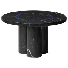 Contemporary Small Table 'DISLOCATION' in Black Marble by Buzao 'Round'