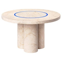 Contemporary Small Table 'Dislocation' in Golden Marble by Buzao 'Round'