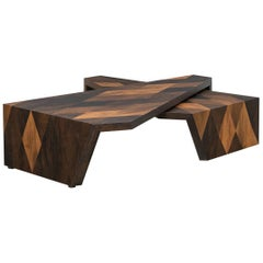 Contemporary Smoked Oak Coffee Table by Johannes Hock 'a'