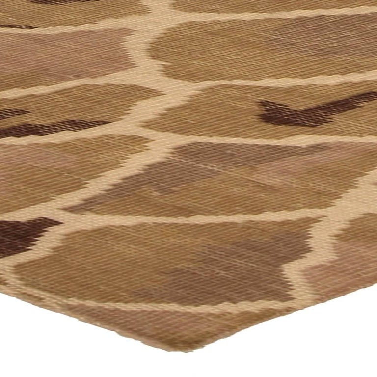 Contemporary Snake Design Hand Knotted Wool Rug For Sale 2