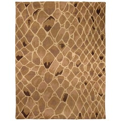 Contemporary Snake Design Hand Knotted Wool Rug