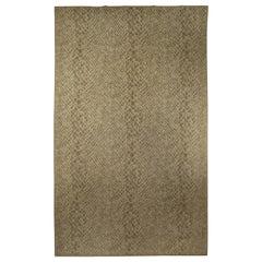 Contemporary Snake Skin Handmade Wool Rug
