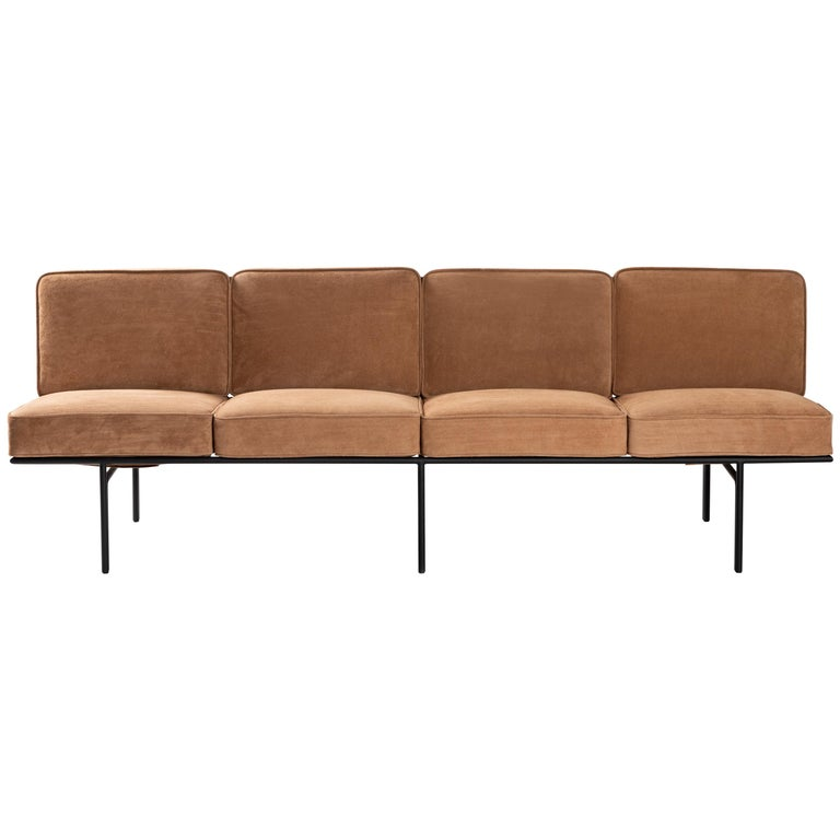Contemporary Sofa in Steel and Leather, ´Deia´ by Samuel Lamas For ...