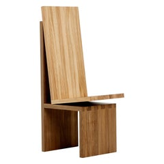 "Contemporary Solid Oak Dining ""Chair in Chair"" by Janis Straupe"