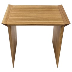 Contemporary Solid Oak Stool or Side Table by Janis Straupe