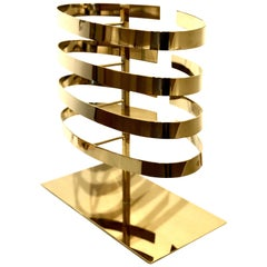 Contemporary Solid Polished Brass Sculpture