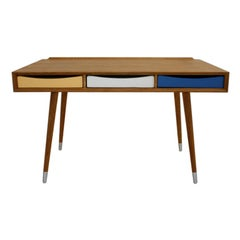 Contemporary Solid Wood Italian Desk with three drawers