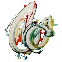 """Contemporary Spanish Colorful Artwork """"Souvenir 44"""" by César Delgado"""