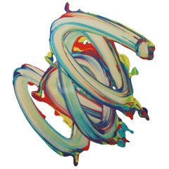 """Contemporary Spanish Colorful Artwork """"Souvenir 49"""" by César Delgado"""