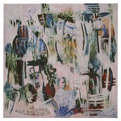 Contemporary Spanish Colorful Expressionism Artwork by Roberto Ruiz Ortega