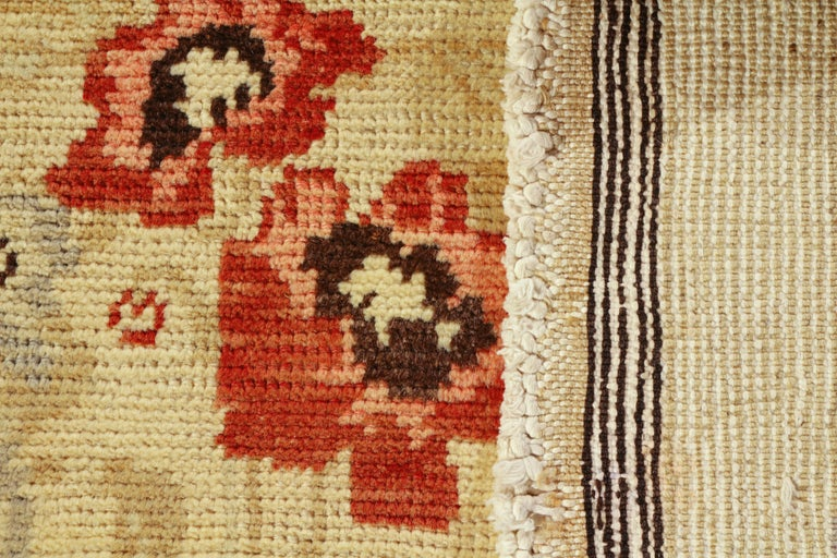 Contemporary Sparta Rug Beige Red Floral Pattern In Excellent Condition For Sale In Long Island City, NY
