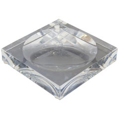 Contemporary Sparte Baccarat Glass Square Ashtray, France