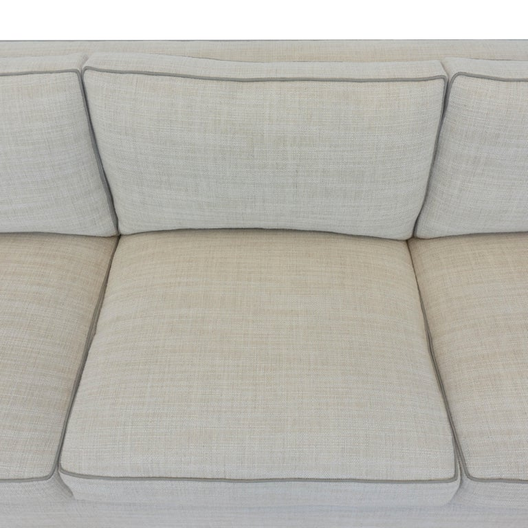 Contemporary Square Arm Sofa with Loose Cushions For Sale 6