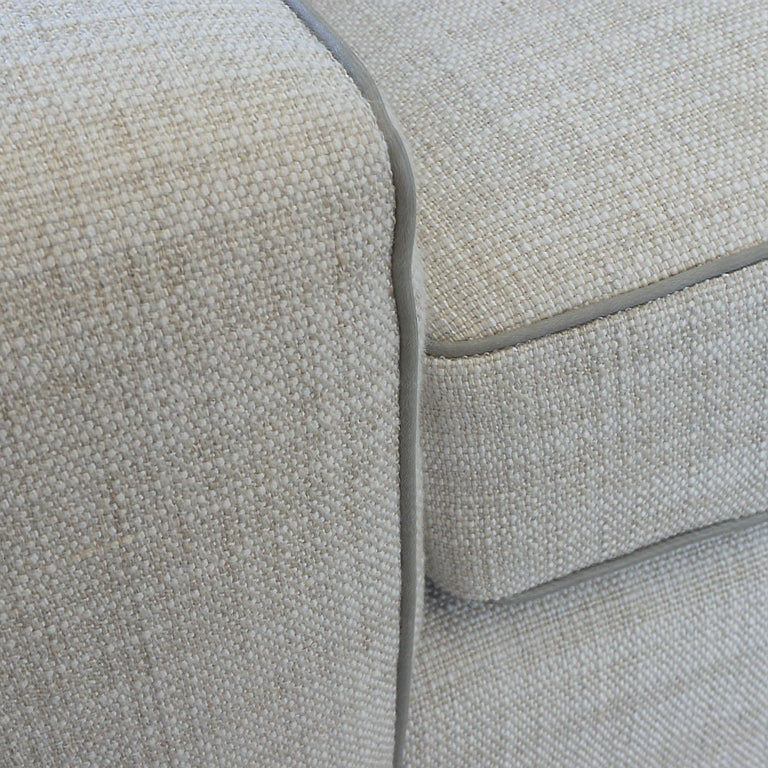 Contemporary Square Arm Sofa with Loose Cushions For Sale 7