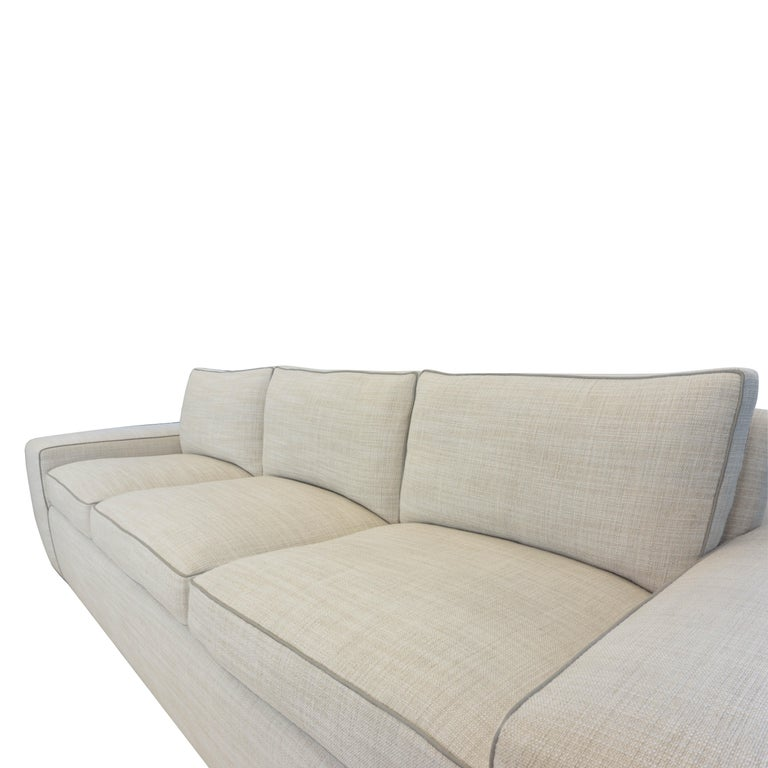 Contemporary Square Arm Sofa with Loose Cushions For Sale 8