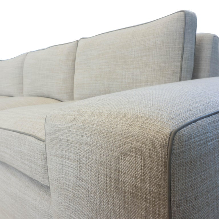 Contemporary Square Arm Sofa with Loose Cushions For Sale 9