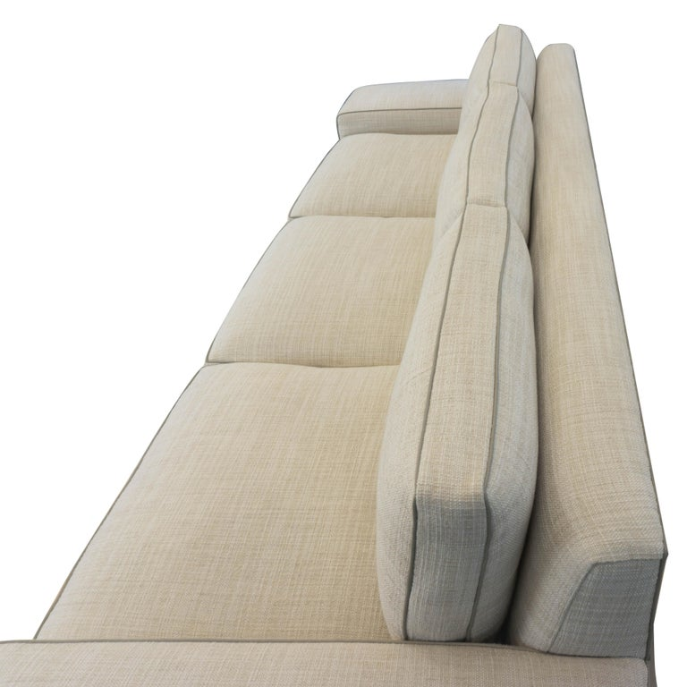 Contemporary Square Arm Sofa with Loose Cushions For Sale 10