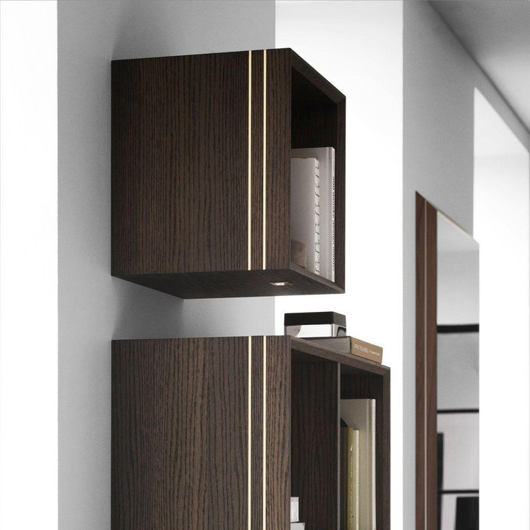 With the symmetrical appearance of a classic square, the unique handmade La Madrina bookcase provides an elegant display for your literature or small decorative items, or to use as a stylish bedside table. The use of natural materials gives the
