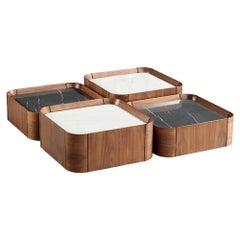 Contemporary Squared Coffee Table, Set of 4