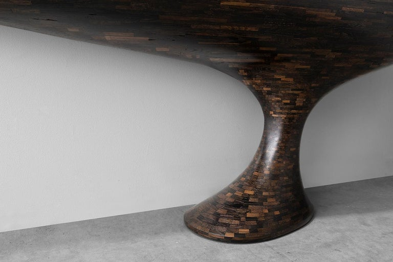 Hand-Carved Contemporary STACKED Console Table by Richard Haining, Available Now