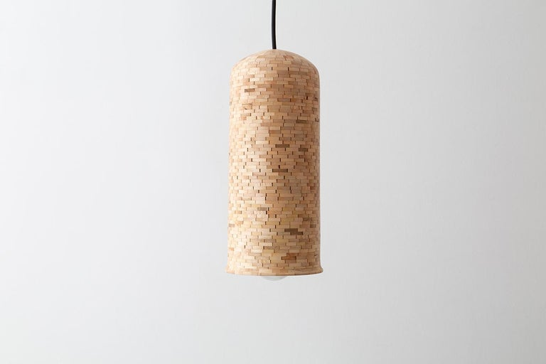 Modern Contemporary Stacked Skinny Bell Pendant Light by Richard Haining For Sale