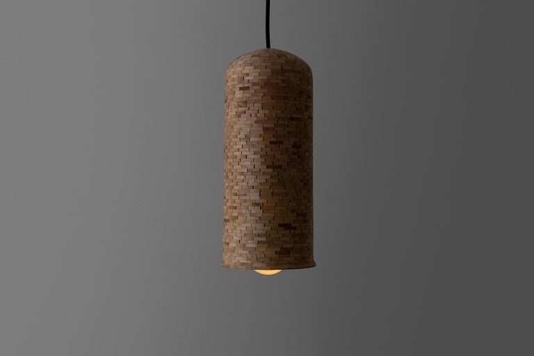 American Contemporary Stacked Skinny Bell Pendant Light by Richard Haining For Sale