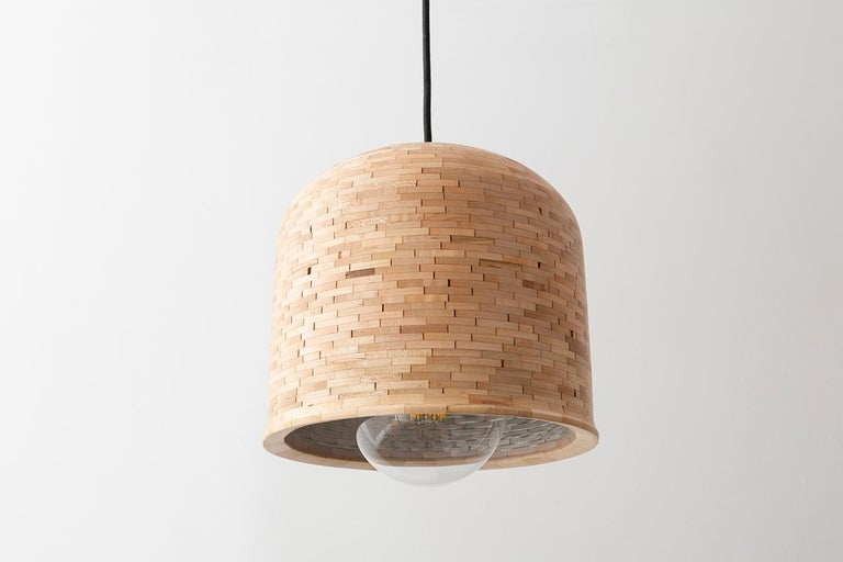Modern Contemporary Stacked Squat Bell Pendant Light by Richard Haining For Sale