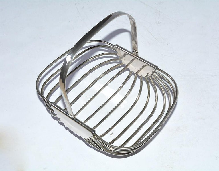 Modern Contemporary Stainless Steel Basket For Sale