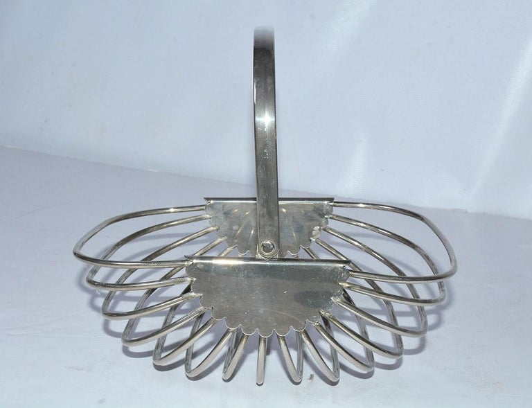 American Contemporary Stainless Steel Basket For Sale