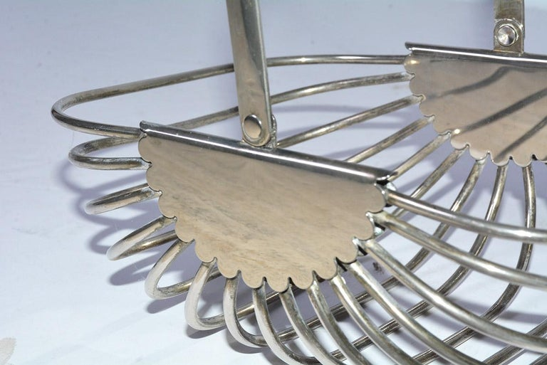Machine-Made Contemporary Stainless Steel Basket For Sale