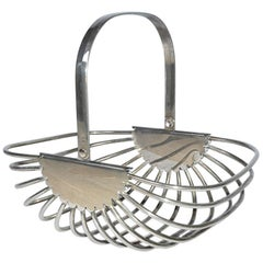 Contemporary Stainless Steel Basket