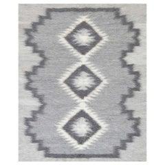 Contemporary Stamverband IX Gray, Black and White Rug