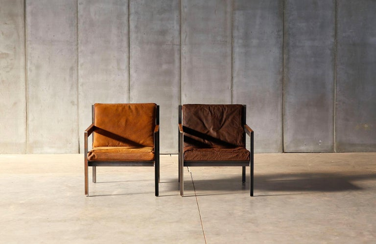 Contemporary Steel Armchair in Brutalist Style For Sale 1