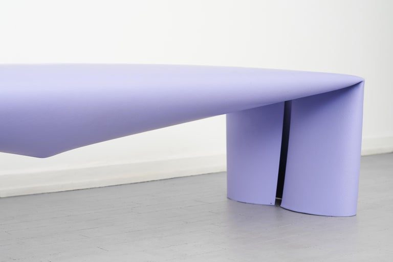 Contemporary Steel Bench by Soft Baroque, in Lavender In New Condition For Sale In Copenhagen, DK