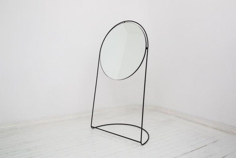 Steel Floor Mirror