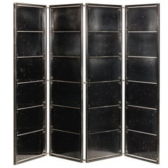 Contemporary Steel Folding Privacy Screen/Shoji Screen Room Divider